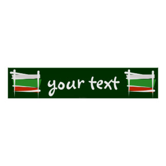 Bulgaria Brush Flag Banner Poster