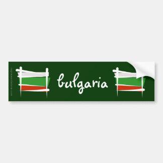 Bulgaria Brush Flag Car Bumper Sticker