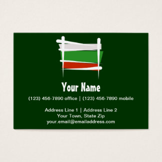 Bulgaria Brush Flag Business Card