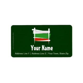 Bulgaria Brush Flag Label