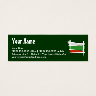Bulgaria Brush Flag Mini Business Card