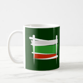 Bulgaria Brush Flag Coffee Mug