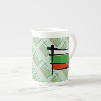 Bulgaria Brush Flag Tea Cup