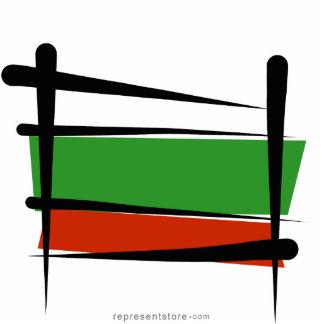 Bulgaria Brush Flag Statuette