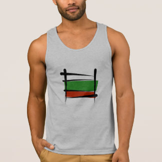 Bulgaria Brush Flag Tank Top