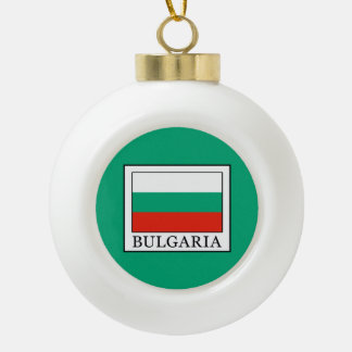Bulgaria Ceramic Ball Christmas Ornament
