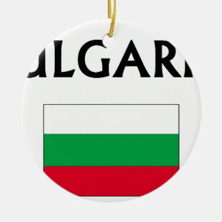 Bulgaria Double-Sided Ceramic Round Christmas Ornament