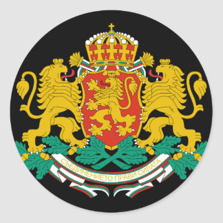 bulgaria emblem classic round sticker