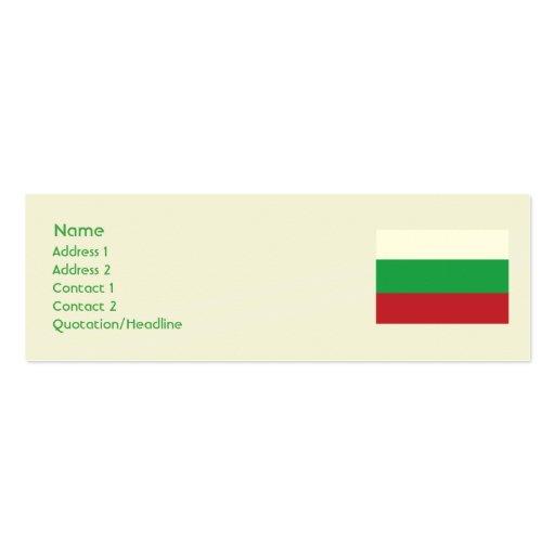 Bulgaria - flaca tarjetas de visita mini