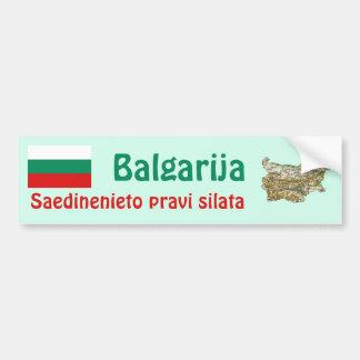 Bulgaria Flag and Map Bumper Sticker Car Bumper Sticker
