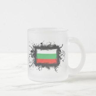 Bulgaria Flag Frosted Glass Coffee Mug