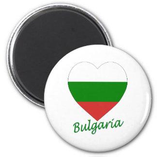 Bulgaria Flag Heart Magnets