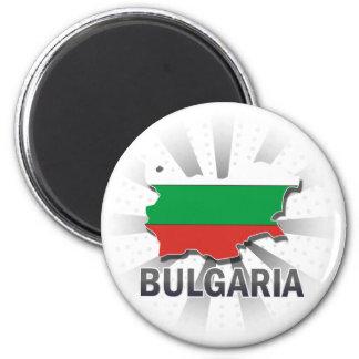 Bulgaria Flag Map 2.0 Magnet