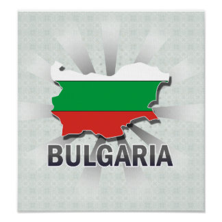 Bulgaria Flag Map 2.0 Posters