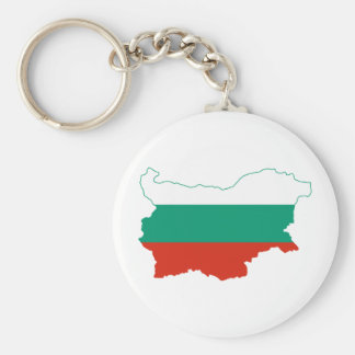 Bulgaria Flag map BG Keychain