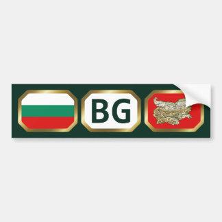 Bulgaria Flag Map Code Bumper Sticker Car Bumper Sticker