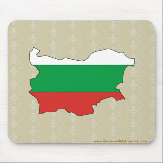 Bulgaria Flag Map full size Mouse Pad