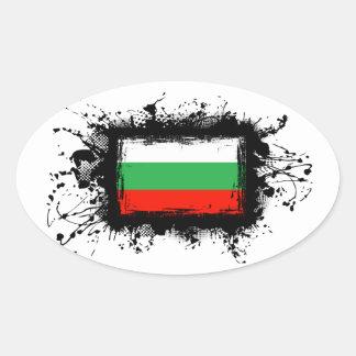 Bulgaria Flag Oval Sticker