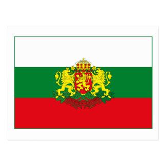 Bulgaria Flag w COA (light) Postcard