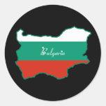 Bulgaria fresca pegatinas redondas