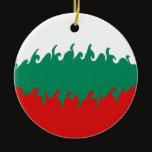 Bulgaria Gnarly Flag Ceramic Ornament