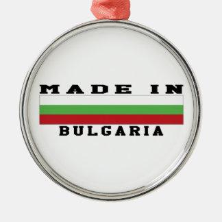 Bulgaria hizo en diseños adorno redondo plateado
