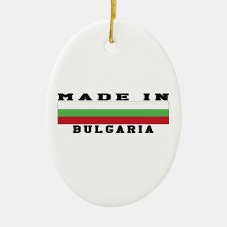 Bulgaria hizo en diseños adorno ovalado de cerámica