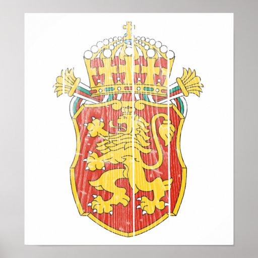 Bulgaria Lesser Coat Of Arms Poster
