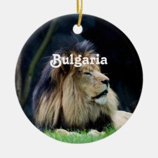 Bulgaria Lion Ceramic Ornament