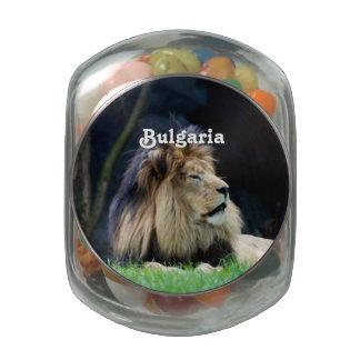 Bulgaria Lion Glass Candy Jars