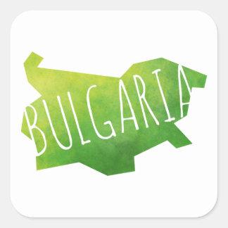 Bulgaria Pegatina Cuadrada