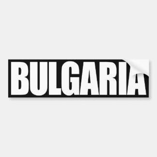 Bulgaria Pegatina Para Auto