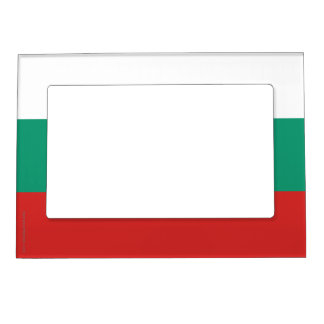 Bulgaria Plain Flag Magnetic Picture Frame