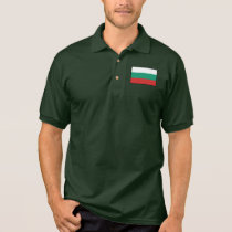 Bulgaria Plain Flag Polo Shirt