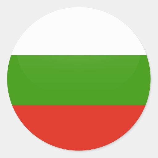 Bulgaria quality Flag Circle Stickers