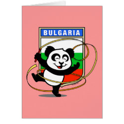Greeting Card with Bulgarian Rhythmic Gymnastics Panda design