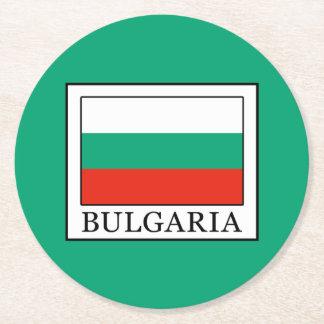 Bulgaria Round Paper Coaster