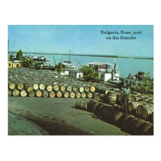 Bulgaria, Ruse, port on the Danube Postcard
