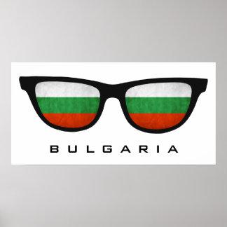 Bulgaria Shades custom text & color poster