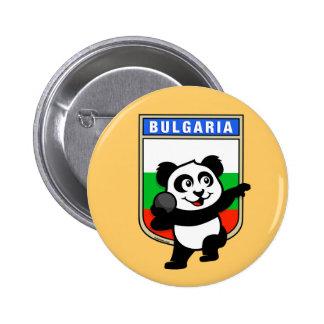 Bulgaria Shot Put Panda Pinback Button