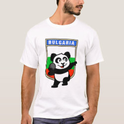 Men's Basic T-Shirt with Bulgarian Shot Put Panda design