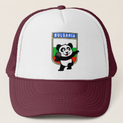 Trucker Hat with Bulgarian Shot Put Panda design