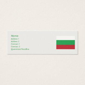 Bulgaria - Skinny Mini Business Card