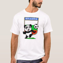 Men's Basic T-Shirt with Bulgaria Football Panda design