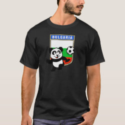 Men's Basic Dark T-Shirt with Bulgaria Football Panda design