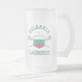 Bulgaria-Vintage Frosted Glass Beer Mug