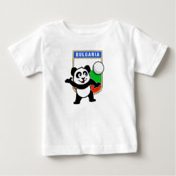 Baby Fine Jersey T-Shirt with Bulgaria Volleyball Panda design
