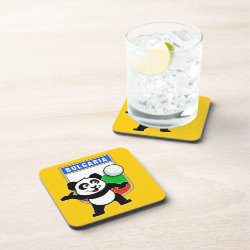 Beverage Coaster with Bulgaria Volleyball Panda design
