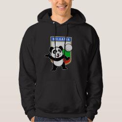 Men's Basic Hooded Sweatshirt with Bulgaria Volleyball Panda design