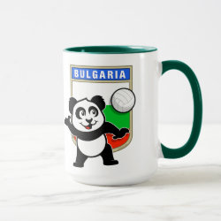 Combo Mug with Bulgaria Volleyball Panda design
